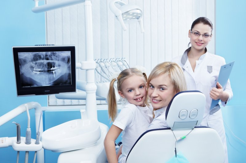 child receives dental x-rays in Chesterfield